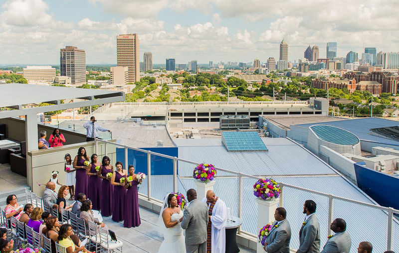 Vincent + Linnea: Married | Ventanas Rooftop | Atlanta, GA