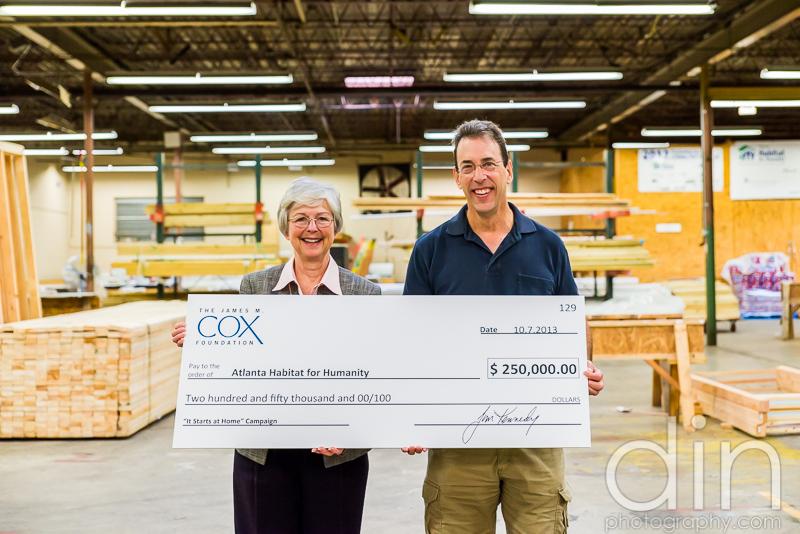 Cox Enterprises and Clark Howard Donate to Habitat For Humanity: Atlanta Charity Event