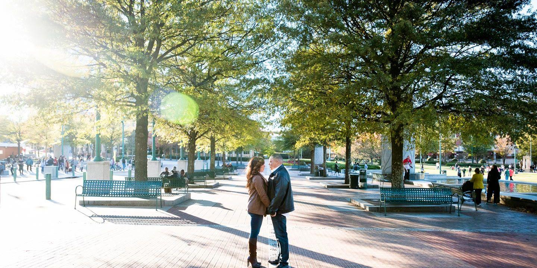 Michael + Vanessa: Engagement | Centennial Olympic Park | Atlanta, GA